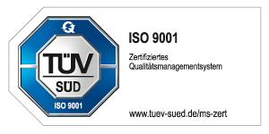 TÜV geprüft ISO 9001:2015 - Zertifiziertes Qualitätsmanagementsystem